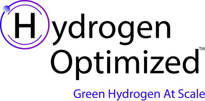 Hydrogen Optimized Logo and the text Green Hydrogen at Scale