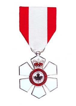 A picture of Order of Canada medal