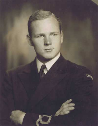 A picture of Alexander Kyle Stuart, while serving as a sub-lieutenant in the Royal Canadian Navy.